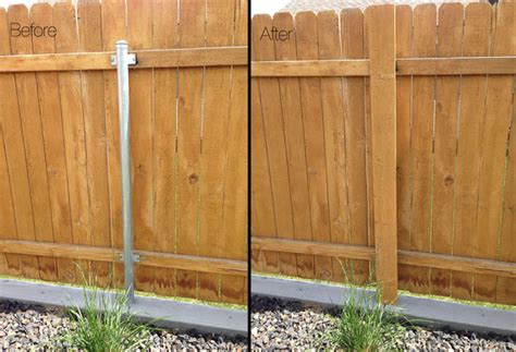 Got Ugly Metal Fence Posts? Diy Garden Project Cure!