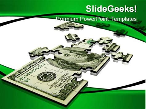 Money Powerpoint Template by Puzzle Dollar Money Powerpoint Background And Template 1210