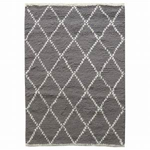 tapis marocain style berbere 100 laine grise by drawer With tapis berbere avec canape en promotion conforama