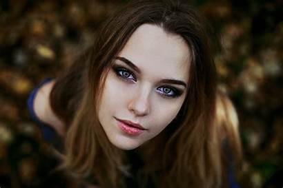 Eyes Brunette Woman Hair Beauty Skin Portrait