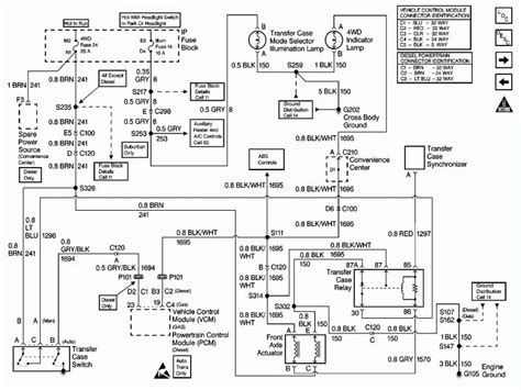 Wiring Harnes Schematic For Chevy Silverado by 2000 Chevy Silverado Transfer Wiring Diagram Wiring