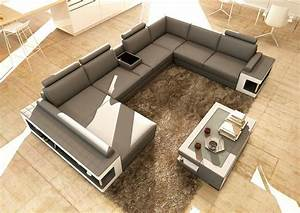grey and white leather sectional sofa with coffee table With coffee table for a sectional sofa