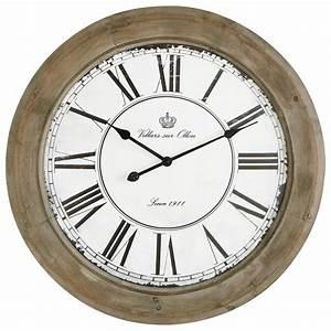 horloge en bois blanchi d 74 cm chalet maisons du monde With maison du monde pendule