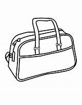 Coloring Bag Handbag Colouring Purse Wallet Clipart Cliparts Printable Template Library Clip Favorites sketch template
