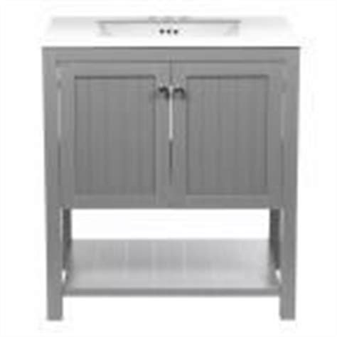 driftwood kitchen cabinets null chariot 24 in vanity in driftwood with vitreous 3474