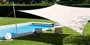 Voile D Ombrage Rectangulaire : voile de jardin toile triangulaire pare soleil exoteck ~ Dailycaller-alerts.com Idées de Décoration
