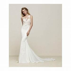 pronovias drenoa sweetheart neckline with lace illusion With wedding dress necklines