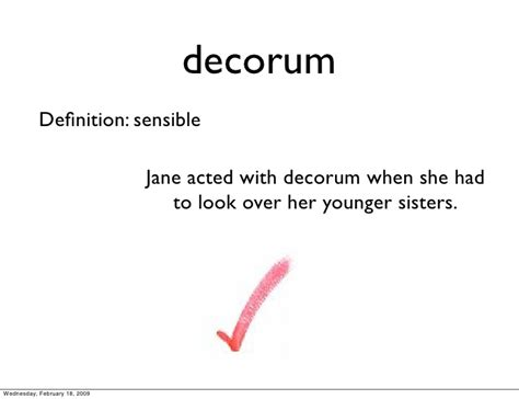 Simple Definition Of Decorous by The True Confessions Of Doyle Vocabulary