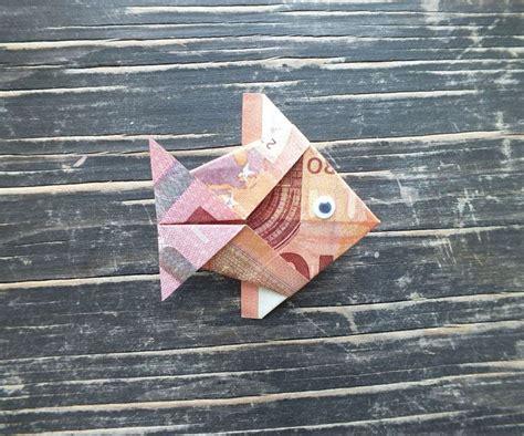 fische aus geld basteln fisch falten aus geldschein einfache anleitung geburtstag fisch falten geldscheine falten