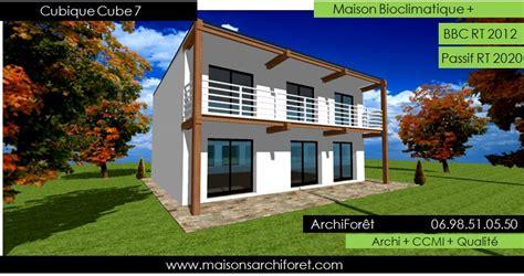 d une maison a l autre maison cubique cube ou carree en ossature bois par votre architecte constructeur plans permis