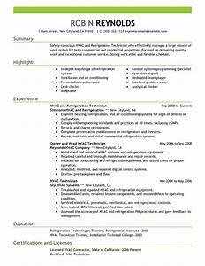 Best hvac and refrigeration resume example livecareer for Hvac resume