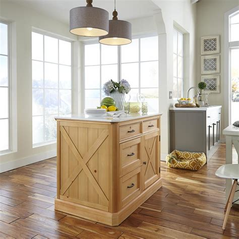 oak kitchen island with seating home styles americana distressed cottage oak kitchen island with seating 5004 948 the home depot