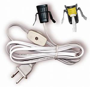 Lamp Cord Sets With Socket  Switch And Molded Plug  Spt