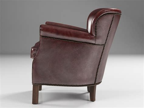 professor s leather chair with nailheads 3d model