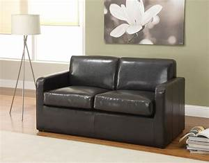 Casby Espresso Pu Leather Sofa Bed Full Sleeper