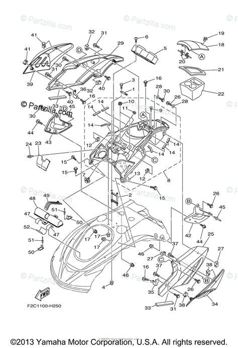 Waverunner Engine Diagram by Yamaha Waverunner 2009 Oem Parts Diagram For Engine Hatch