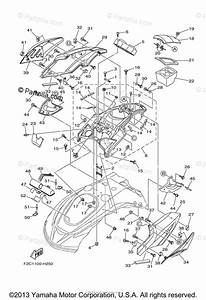 Yamaha Waverunner 2009 Oem Parts Diagram For Engine Hatch 1