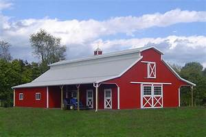 red exterior homes paint the town With barnyard red paint