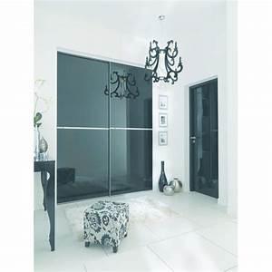 Porte De Placard Lapeyre : portes de placard coulissantes en verre laqu reflet ~ Dailycaller-alerts.com Idées de Décoration