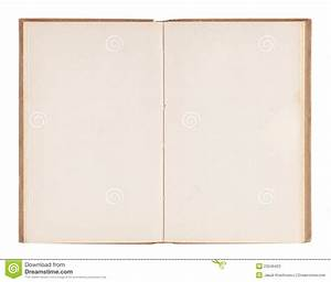 Open Old Blank Book Stock Photos - Image: 23245423