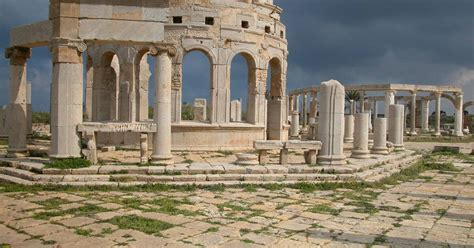 archaeological site  leptis magna unesco world