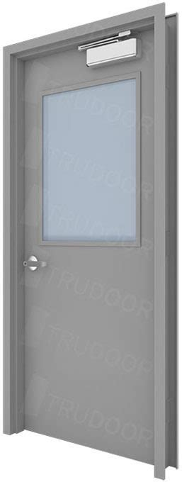 hollow metal door metal doors with steel lite kit and glass