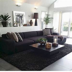 15, Most, Comfortable, Living, Room, With, Black, Sofa, Design