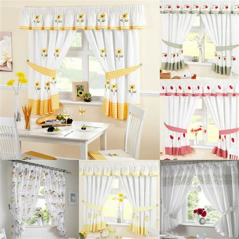 Kitchen Drapes And Curtains - ready made kitchen window curtains pelmets seat pads