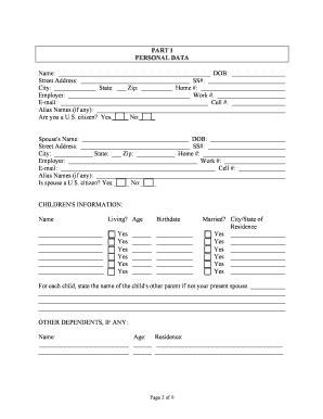 Estate Planning Worksheet Free  Edit Online, Fill, Print & Download Hot Forms In Word & Pdf