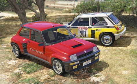 renault turbo rally renault 5 turbo add on replace tuning livery