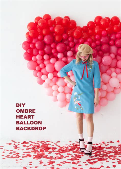 giant ombre heart balloon backdrop