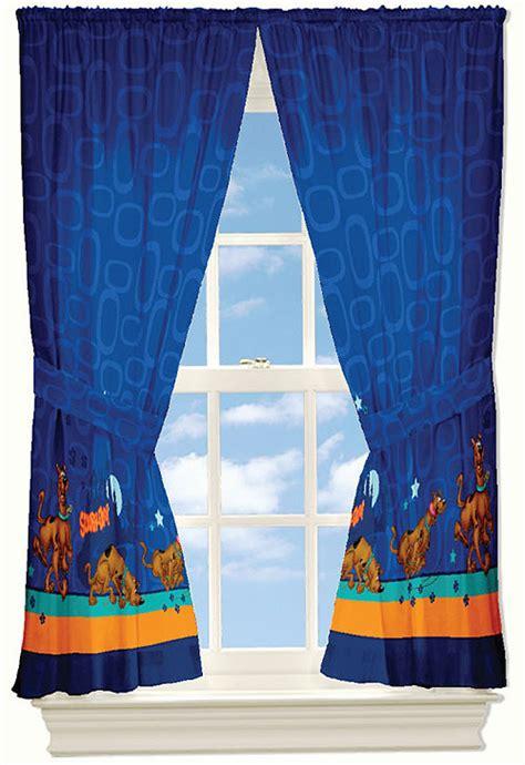 scooby doo curtains set 4pc mystery window drapery set