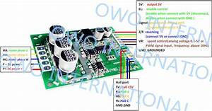 500w Brushless Dc Motor Driver Board 12
