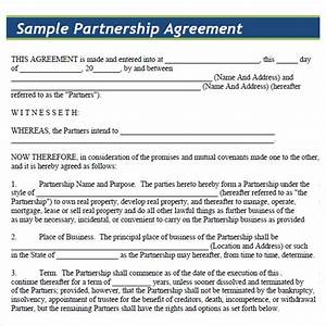 Partnership agreement 8 free samples examples format for Business partnership agreement template free download