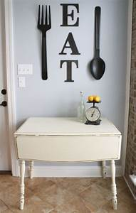 25 best ideas about small kitchen tables on pinterest With kitchen cabinets lowes with fork wall art