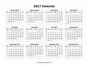 2017 Printable Calendar Word | weekly calendar template
