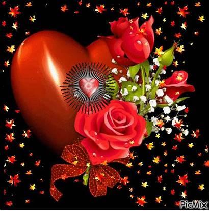 Flores Picmix Corazones Amor Encontradas Enamorados Gifs