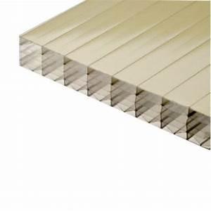 Plaque Polycarbonate Alvéolaire 4mm : plaque polycarbonate alv olaire gold 32 mm 1 25 m ~ Dailycaller-alerts.com Idées de Décoration