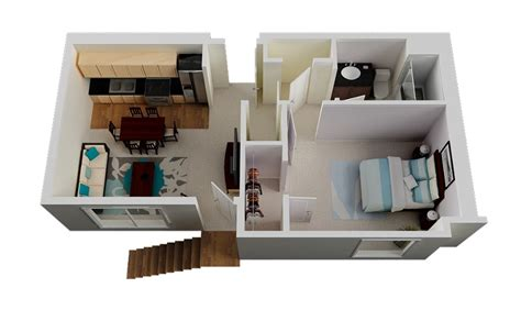 Inspiring One Bedroom One Bath House Plans Photo by 50 One 1 Bedroom Apartment House Plans Architecture
