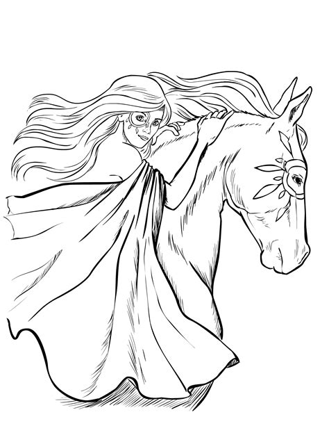 Barrel Racing Coloring Pages Horses Coloring Pages