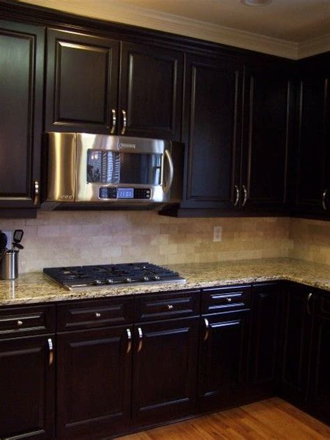 painting kitchen cabinets espresso espresso stained kitchen cabinetry general finishes gel 4032