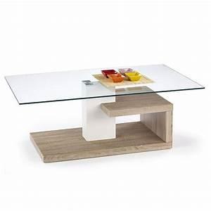 Table Basse Blanc Bois : table basse design blanc et bois line tables basses design ~ Teatrodelosmanantiales.com Idées de Décoration