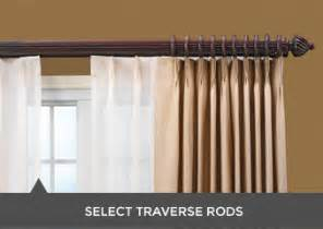 double traverse rods i curtain sheers rods i wood drapery