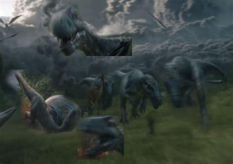 allosaurusmetriacanthosaurus collage jurassicpark