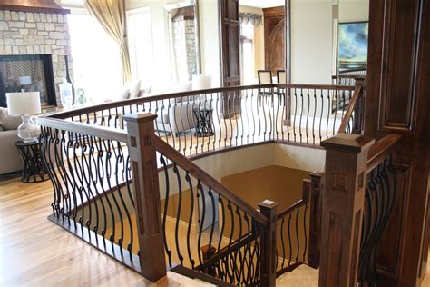Custom Made Wood Stair Rail With S Shaped Spindles By