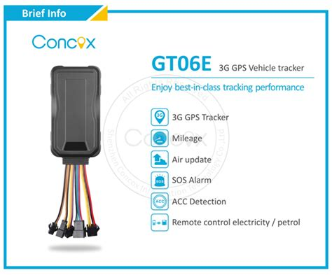 Concox New 3g Gps Vehicle Gps Tracker Gt06e Built-in