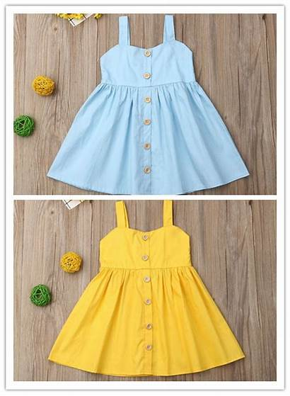 Sleeveless Toddler Playwear Halter Button Clothes