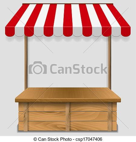 store window  striped awning vector illustration
