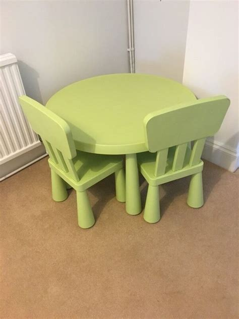 Ikea Mammut Möbel by Ikea Mammut Green Table 2 Chairs In Brighton