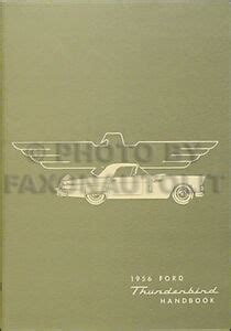 ford thunderbird owners manual   bird owner